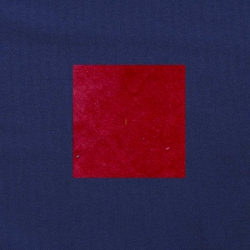 Rood op donkerblauw