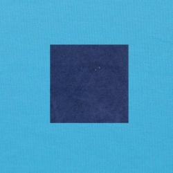 Blauw op helderblauw