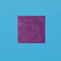Paars op helderblauw