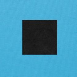 Zwart op helderblauw