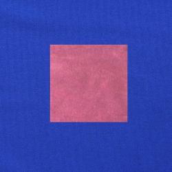 Donkerroze op kobaltblauw
