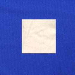 Wit op kobaltblauw