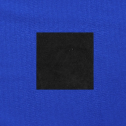 Zwart op kobaltblauw