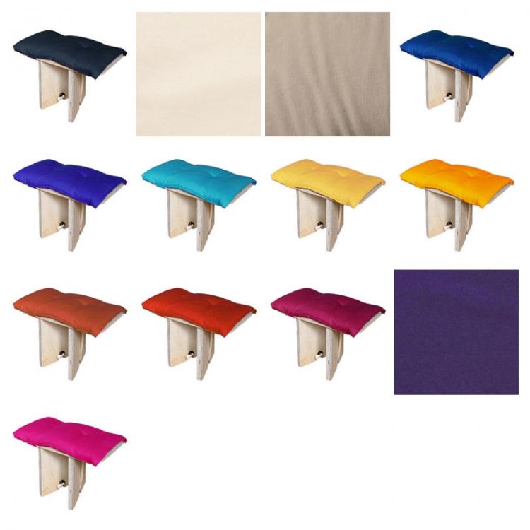 Kussen voor compact meditatiebankje, alle kleuren
