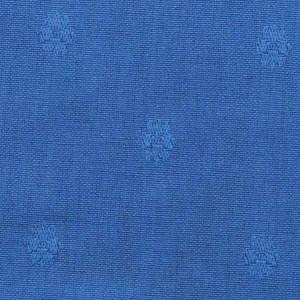 Blauw met ingeweven bloemmotief