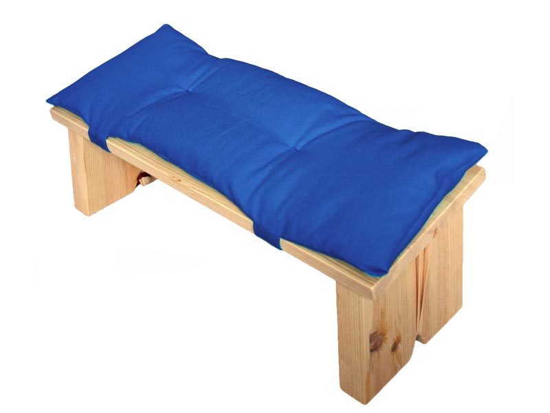 Meditatiebankje met kussentje, kobaltblauw