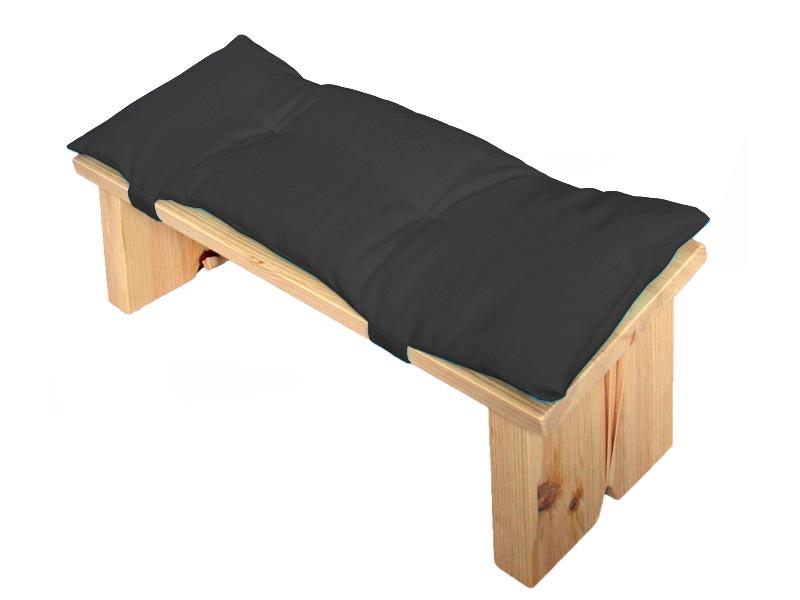 Meditatiebankje met kussentje, zwart