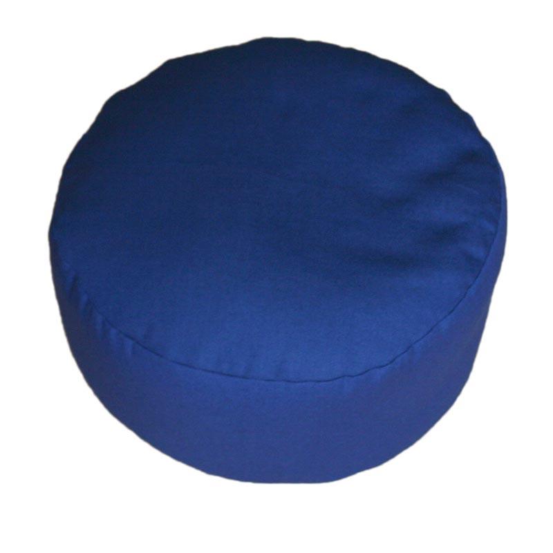 Rond meditatiekussen, donkerblauw