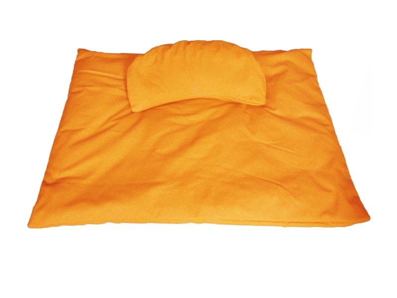 Meditatieset afneembare hoezen, oranjegeel