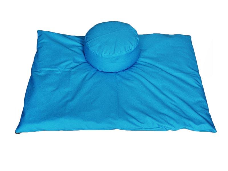 Meditatieset afneembare hoezen, helderblauw