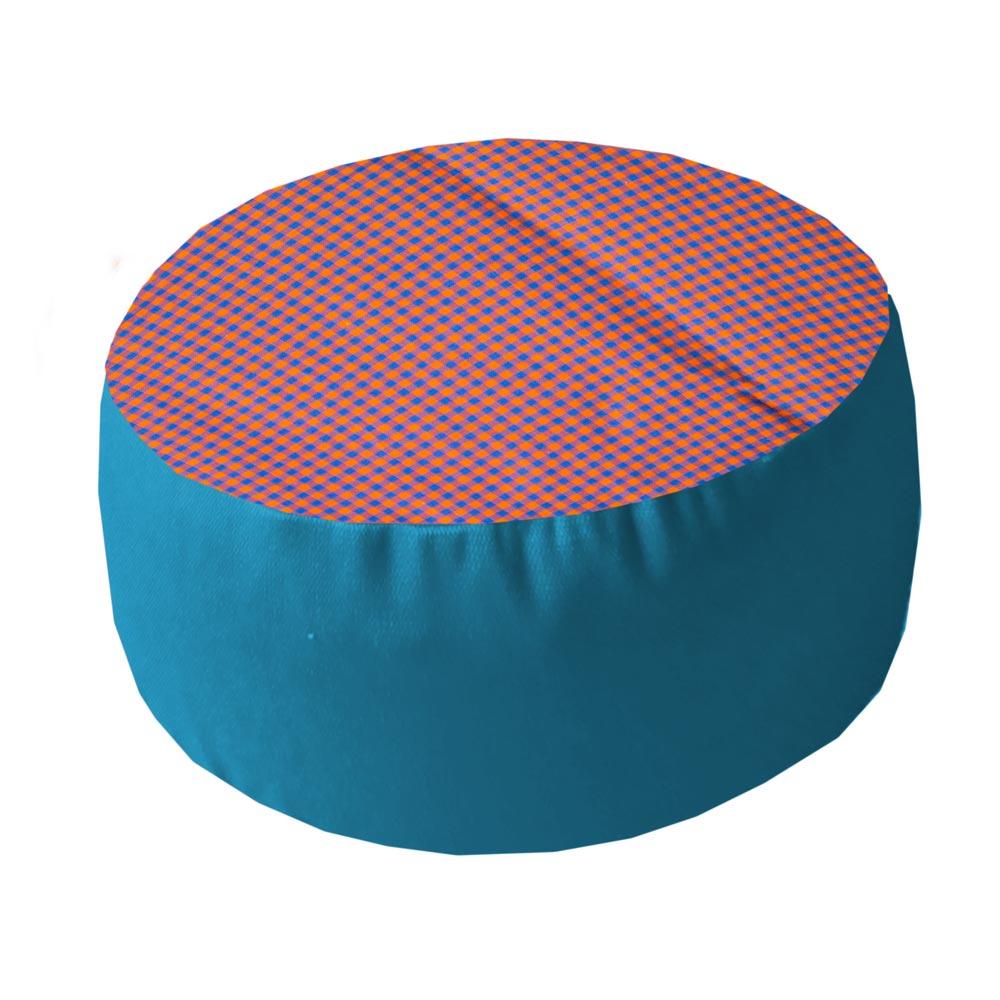 Oranje-blauwe ruit met helderblauwe zijkant