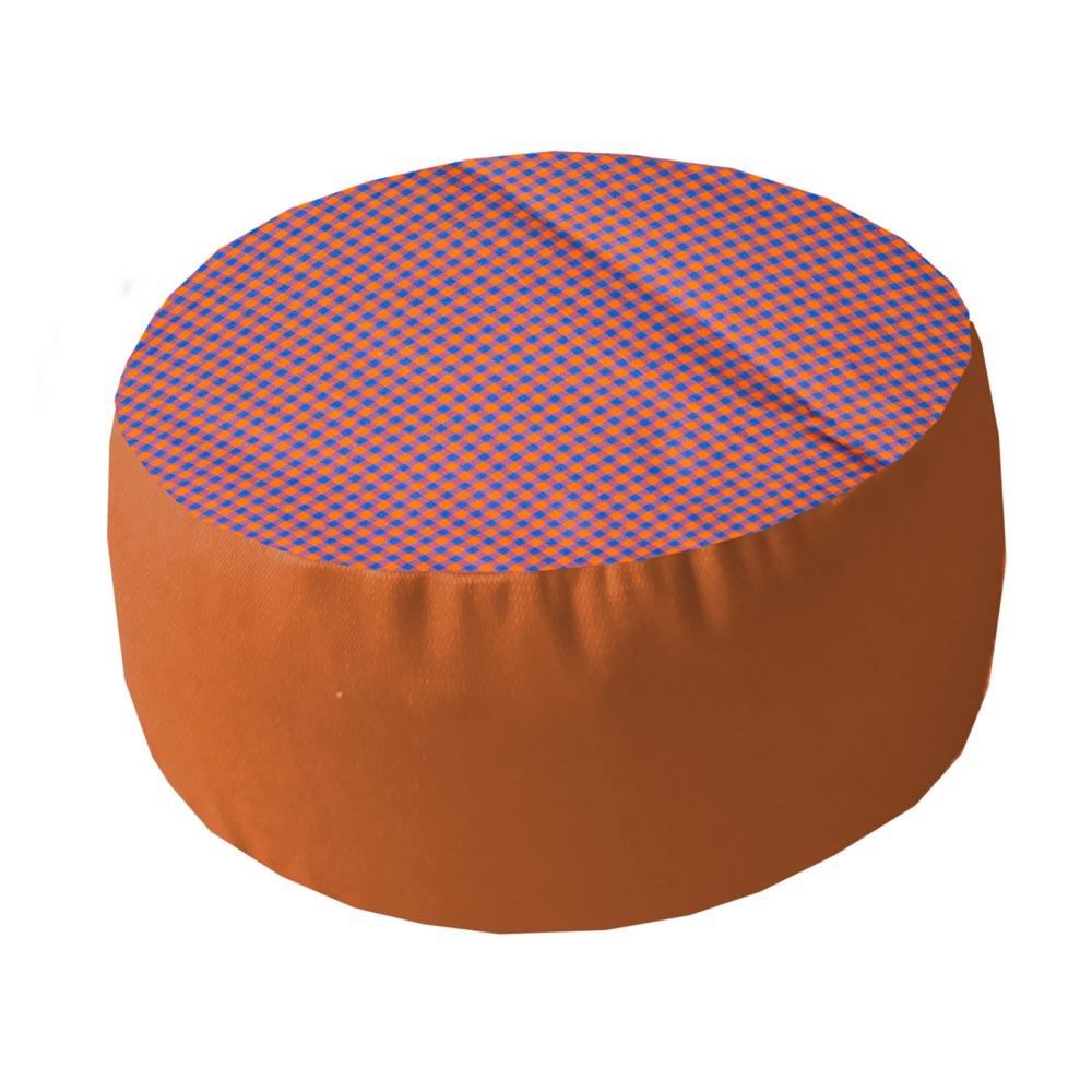 Oranje-blauwe ruit met terracotta zijkant