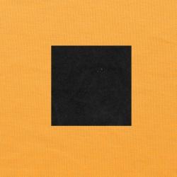 Zwart op oranjegeel